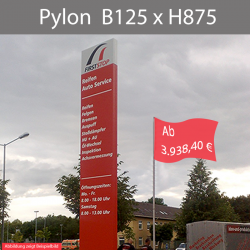 Pylon B125 x bis H875cm