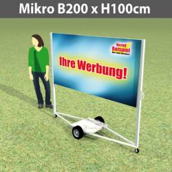 WerbeRolly Mikro B200xH100cm