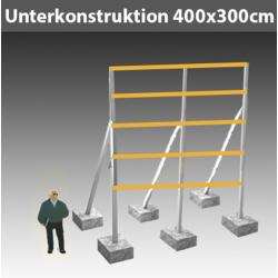 Unterkonstruktion für Schild 1.9 B450 x H300cm Ges.H500cm