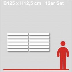Gewerkeschilder 1.2 Format bis B125 x H12,5 cm