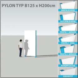 Pylon B125 x bis H250cm