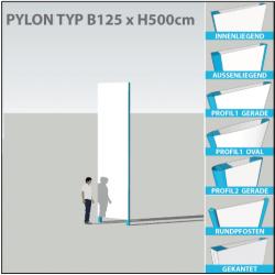 Pylon B125 x bis H500cm